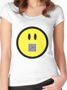 """Megatrip says """"Have A Day"""" (Kneel Before Me version) Women's Fitted Scoop T-Shirt"""