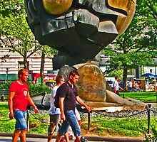 """The Sphere"" sculpture - Battery Park - New York, New York by michael6076"