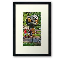 """""""The Sphere"""" sculpture - Battery Park - New York, New York Framed Print"""