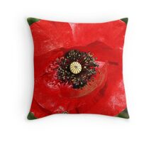 Flanders Poppy - Gippsland Throw Pillow