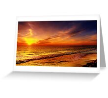 Sunset Golden Hour Greeting Card