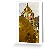 """The Sphere"" sculpture - Battery Park- New York, New York Greeting Card"