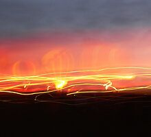 balloons at night by Dan Wagner