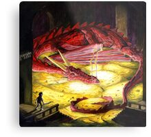 Smaug the golden Metal Print