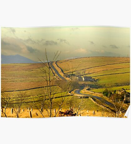 Dales Country Road Poster
