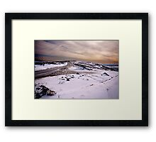 Winter on the Moors Framed Print