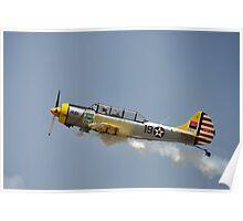 Yellow plane Poster