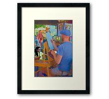Life Imitates Art Framed Print