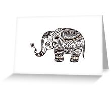 Cute Brown Tones Floral ElephantElephant Greeting Card