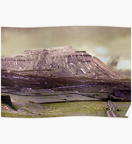Ingleborough in the Yorks Dales Poster