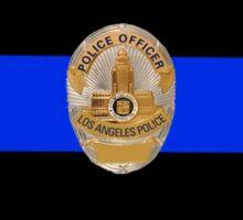 LAPD Thin Blue Line Sticker