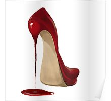 fluid red shoes Poster