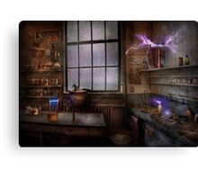 Steampunk - The Mad Scientist Canvas Print
