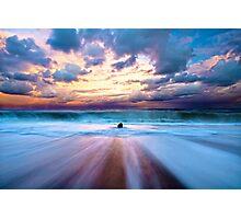 Seaside, Oregon Coast Beach HDR Photographic Print