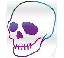 Multicoloured Skull Poster