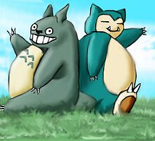 Totoro's neighbour, Snorlax by ady-182