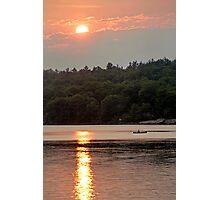 Sunset Canoe - Kennebec Lake, Ontario Photographic Print