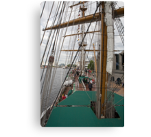 The sail rigging on the Gloria. Canvas Print
