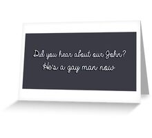 Our John Greeting Card
