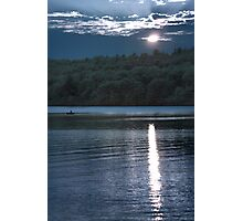 Sunset Paddler - Kennebec Lake, Ontario - Infrared Photographic Print