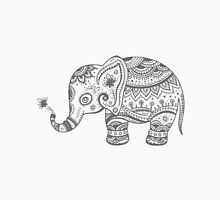 Gray Tones Cute Elephant Unisex T-Shirt