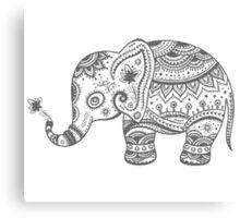 Gray Tones Cute Elephant Canvas Print