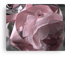 Pink Ribbon And Rose Canvas Print