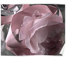 Pink Ribbon And Rose Poster