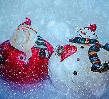 Santa and Frosty by Denise Abé