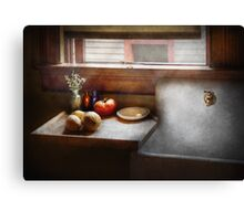 Kitchen - Sink - Farm Kitchen  Canvas Print