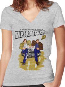 Supernatural Comics Women's Fitted V-Neck T-Shirt