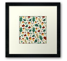 Cute Fall Design Framed Print