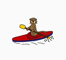 Awesome Sea Otter Kayaking Original Art Unisex T-Shirt