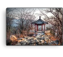 Gazebo on the Great Wall Canvas Print