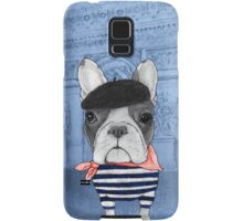 Frenchie With Arc de Triomphe Samsung Galaxy Case/Skin
