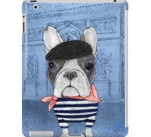 Frenchie With Arc de Triomphe iPad Case/Skin