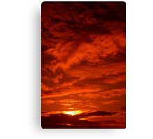 Red Sky North Sea Canvas Print