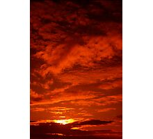 Red Sky North Sea Photographic Print