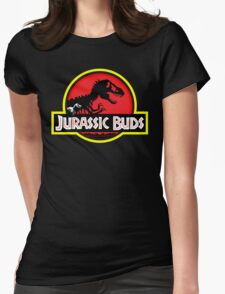 Jurassic Buds (red) Womens Fitted T-Shirt