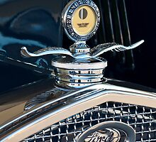 1931 Ford Model A Deluxe Roadster Hood Ornament by Jill Reger