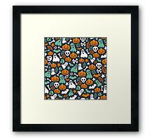 Cute Halloween Pattern Framed Print
