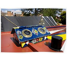 Colourful rooflight on the roof of a narrowboat Poster