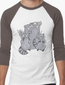 Fancy Racoon masks  Men's Baseball ¾ T-Shirt