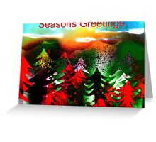 Winter Pine Forest Greeting Card