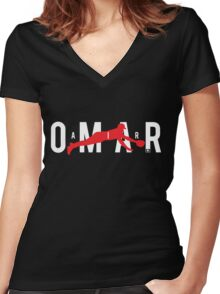 Air Omar Women's Fitted V-Neck T-Shirt