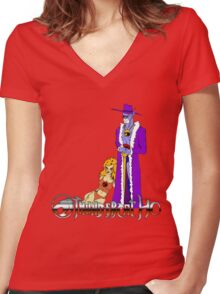 Thundercat, Ho! Women's Fitted V-Neck T-Shirt