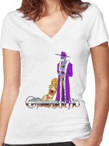 Thundercat, Ho! Women's Fitted V-Neck T-Shirt