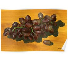 seedless and boneless red grapes Poster