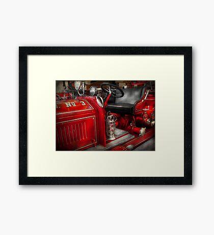 Fireman - Fire Engine No 3 Framed Print