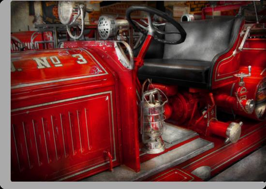 Fireman - Fire Engine No 3 by Mike  Savad